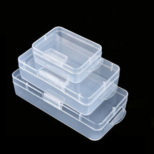 Clear Plastic Storage Box For Screw Electronic Component Parts Jewelry Craft Box