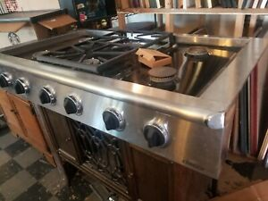 Commercial Stove Top dacor 6 Burner With Extras Gas New Unused From Storage