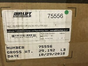 Air Lift 75556 Front Air Spring Performance Kit For Subaru Impreza Slightly Used