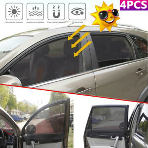 4pcs Magnetic Car Front Rear Side Window Curtain Sunshade Visor Anti Uv Covers