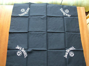 Jack Daniels bandana scarf black Old No 7 Brand whisky 59 x 59 cm new rare
