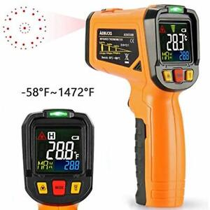 Infrared Thermometer Ad6530b Digital Laser Non Contact Cooking Ir Temperature 12