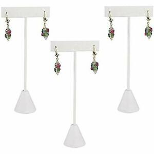 888 Display Usa 3 White Leatherette Earring T Stand Showcase Displays 3 Home