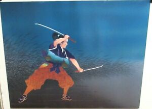 Japanese Samurai Fighter Limited Edition Hand Signed Lithograph