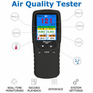 7in1 Air Quality Monitor Particle Pm2 5 Pm10 Hcho Tvoc T H Recorder