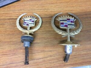 2 Gold Cadillac Hood Emblems Different Sizes 2 For One