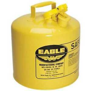 Eagle Ui50sy 5 Gal Yellow Galvanized Steel Type I Safety Can For Diesel