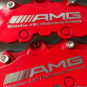 Plastic Red Amg Mercedes Brake Caliper Cover Disc Benz 11 F 9 R C200 C250