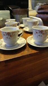 3 Sets Of 2 Pcs Tea Cups W Saucers 12 Pcs Total Made In China