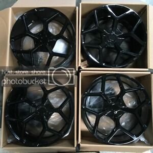 Used 22x10 Truck Fit Lifted Chevy Ford 6x135 6x5 5 30 Gloss Black Wheels Set 4