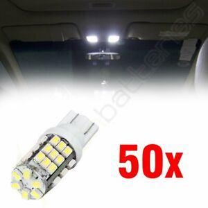 50x Super White T10 194 168 42 smd Auto Replace Backup Reverse Led Lights Bulbs
