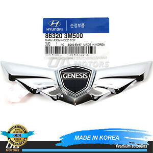 Genuine Hood Wing Emblem For 2009 2014 Hyundai Genesis Oem 863203m500