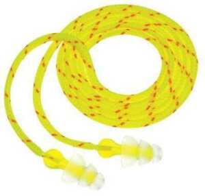 3m P3001 Triflange Corded Ear Plugs 26db Rated Flanged Shape Pk 100