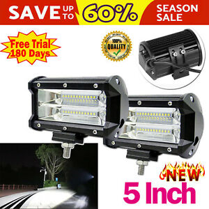 2x 480w Cree Led Work Lights Pods Spot Offroad Lamp For Atv Jeep Ute 4wd 4