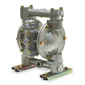 Dayton 6py43 Double Diaphragm Pump Aluminum Air Operated Buna N 28 Gpm