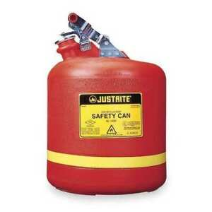 Justrite 14561 5 Gal Red Polyethylene Type I Safety Can For Flammables
