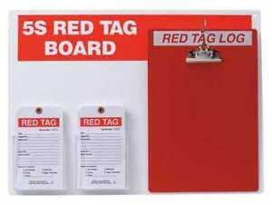 Brady 122057 Red Tag Station W clipboard Large Tags