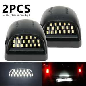 2pcs Led License Plate Light For 00 06 Chevy Tahoe Suburban Gmc Yukon Xl Us Ship