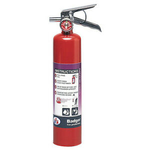 Badger B250p Fire Extinguisher 10b c Dry Chemical 2 1 2 Lb