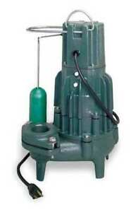 Zoeller D293 Waste mate 1 Hp 2 Auto Submersible Sewage Pump 230v Vertical