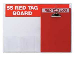 Brady 122049 Red Tag Station With Clipboard Unfilled