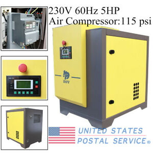 230v 60hz Oil Free Scroll Air Compressor 5hp Single Phase Dual Volt Fixed Speed