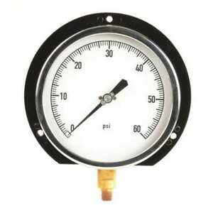 Zoro Select 11a515 Pressure Gauge process 6 In 0 60psi