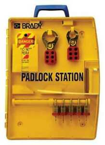 Brady 105929 Lockout Station filled 15 Components