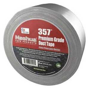 Nashua 357 Duct Tape 4 In W 60 Yd L silver pk12