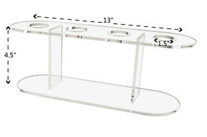 Ice Cream Cone 4 Slot Stand Acrylic Tabletop Display Qty 6