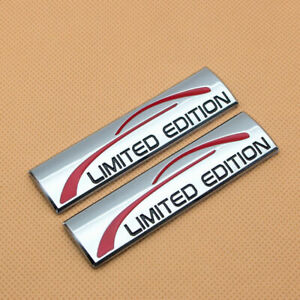 2x Metal Chrome Limited Edition Fender Emblem Trunk Sport Badge Decal Sticker