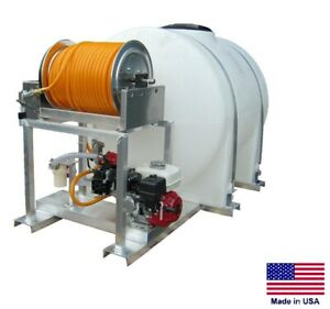 Sprayer Commercial Skid Mounted 9 5 Gpm 580 Psi 5 5 Hp 335 Gallon Tank
