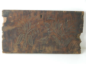 American Folk Art Pennsylvania Carved Panel Late 18th Early 19th Century