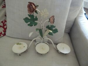 Vintage Italian Tole Hollywood Regency Candle Holder