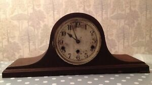 Antique Mantle Clock Nelson Hat Westminster Chiming For Restoration 52x23x17cm
