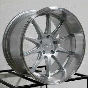 Xxr 527d 18x9 5x114 3 20 Silver Ml Wheels Set Of 4
