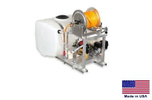 Sprayer Commercial Skid Mounted 9 5 Gpm Manual Reel 100 Gallon Tank