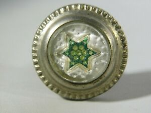 Vintage Glass Curtain Tie Back Or Draw Pull Star Pattern 1 Inch Diameter