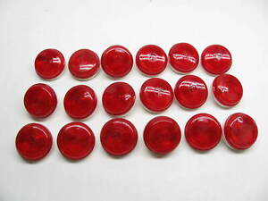 X18 Red Round Side Marker Clearance Lights Peterson Manufacturing 101r