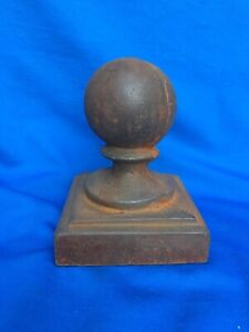 Cast Iron Newel Porch Post Finial Ball Topper Architectural