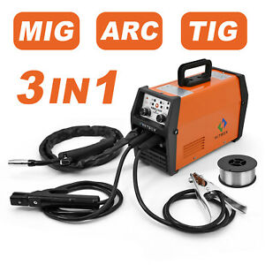 Hitbox 3 In 1 Mig Mag Welding 120amp 220volt Gasless Flux core Welder Machine