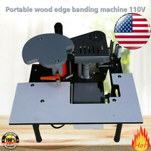 Woodworking Portable Edge Banding Machine 0 3 3mm Thick Bevel 10 60mm Width
