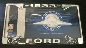 1933 Ford License Plate Frame New Chrome Steel For 6 By 12 Plate 1 Piece