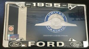 1935 Ford License Plate Frame New Chrome Steel For 6 By 12 Plate 1 Piece