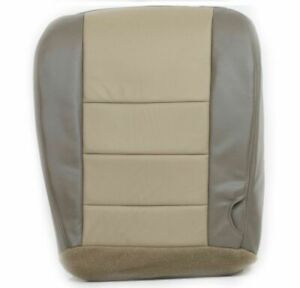 2002 2004 Ford Excursion Eddie Bauer Driver Bottom Vinyl Seat Cover 2 Tone Tan