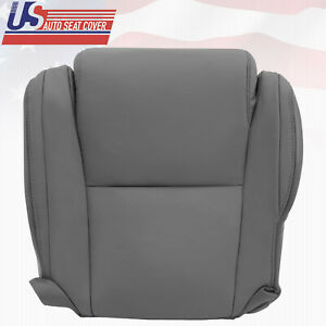 For 2007 2013 Toyota Tundra Driver Bottom Gray Leather Seat Cover W Extra Seam
