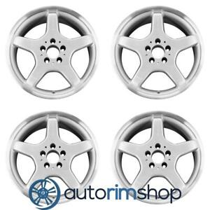 Mercedes Slk230 17 Oem Amg Staggered Wheels Rims Set Machined With Silver