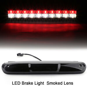 Led White Red Third Brake Light Smoke For 07 13 Chevy Silverado Gmc Sierra 1500