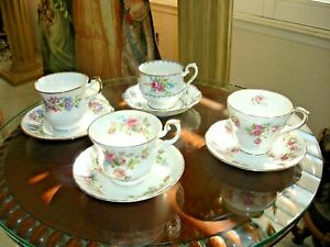 Tea Cup And Saucer Lot For 4 Royal Albert Duchess Royal Dover