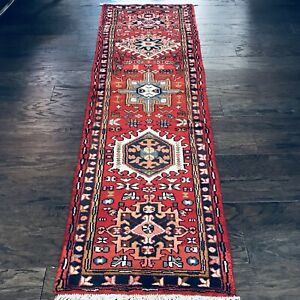 Stunning C 1940 Vintage Antique Exquisite Hand Made Rug 2 X 6 8